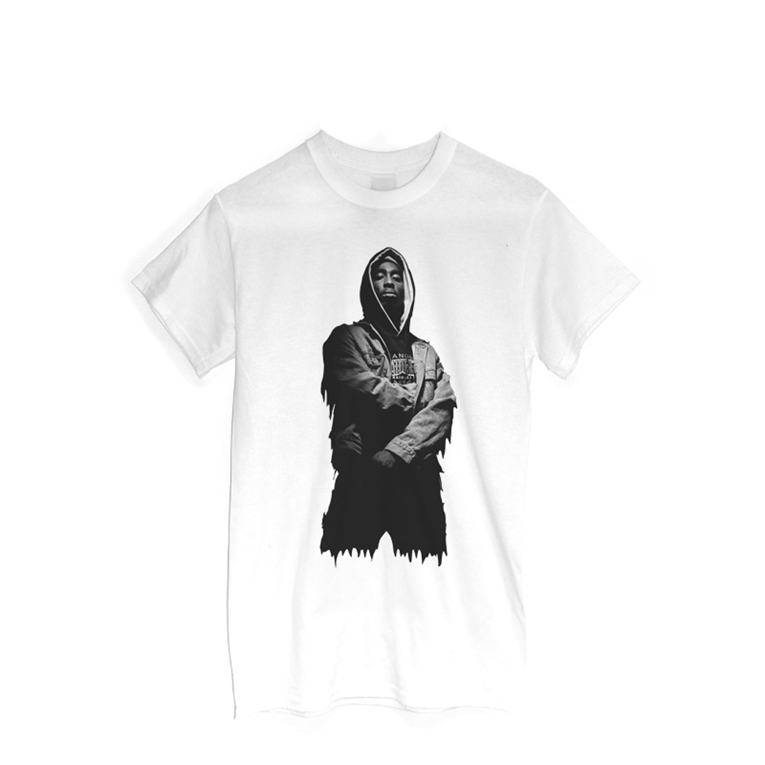 2pac white t shirt
